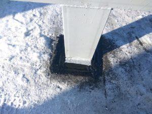 Гидроизоляция филлера Жидкой кровлей Зимой в минусовую погоду