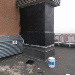 Гидроизоляция шахт и пристроек, находящихся на кровле здания - Жидкой Мембраной