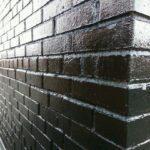 Обработанная кирпичная стена - Жидким пергамином (2)
