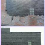 Обработка кирпичной стены - Жидким пергамином